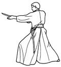 Illustraties van verschillende kata, Shinkage-ryu iaido